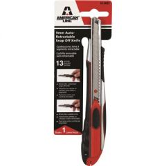 American Line 65-0022 13pt 9MM Auto Retract Snap-Off Blades