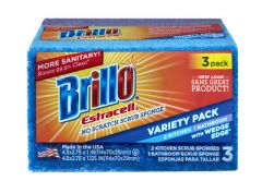 Armaly 21035 Brillo Estracell No-Scratch Wedge Edge Variety Kitchen & Bath 3ct