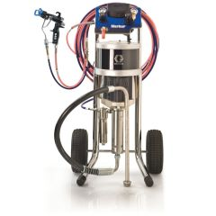 30:1 Merkur AA Pkg, 1.2 gpm (4.5 lpm) fluid flow, Cart Mt, G40 Gun, Pump Air Controls, Gun Air/Fluid Hose, Hopper