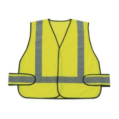 Honeywell RWS-50004 Lime Green Safety Vest w/ Reflective Stripes