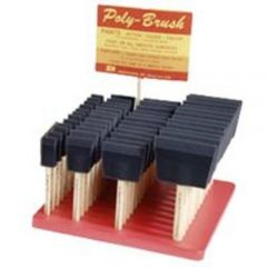 "Jen PB1 Display Assortment of Poly Brushes (12 Each 1"",2"",3"",4"")"