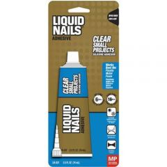 Liquid Nails LN-207 2.5 oz. Clear 100% Silicone Adhesive