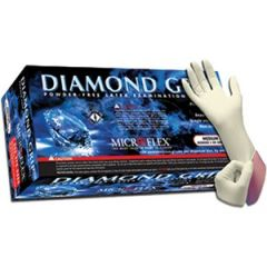 Microflex MF-300-M 7.5mil Med Diamond Grip Latex Glove 100Pk