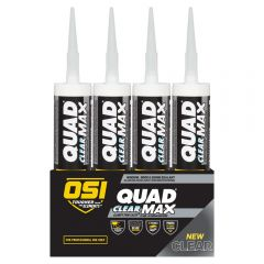 OSI 2445634 Quad Max 9.5 oz Clear Sealant