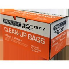 Petoskey FG-P9934-11A Steelcoat 33 Gal 1.25mil Twist Tie Trash Bags Black 33x40 40Ct