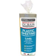 Petoskey FG-P9934-52 10' x 25' 3mil Steelcoat Clear Plastic Sheeting