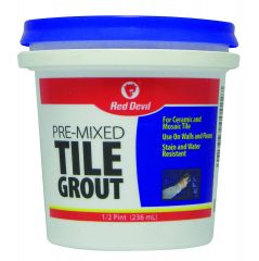 Red Devil 0422 Pre Mixed Tile Grout 1/2 Pint Tub