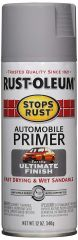 Rust-Oleum 2081830 12 oz. Flat Gray Stops Rust Auto Primer Spray