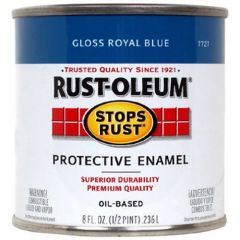Rust-Oleum 7727730 .5Pt Gloss Royal Blue Stops Rust