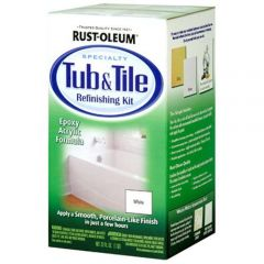 Rust-Oleum 7860519 Qt White Tub & Tile Refinishing Two Part Kit