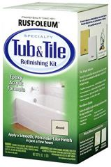 Rust-Oleum 7861519 Qt Almond Tub & Tile Refinishing Two Part Kit