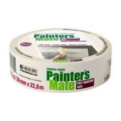 "Shurtape 104658 36mm x 22.8m (1.41"" x 25yd) Painter's Mate Double Sided Poly Hanging Tape"