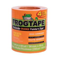 "ShurTape 242808 1.41"" x 60yd FrogTape Pro Grade Orange Painter's Tape (4/Pk)"